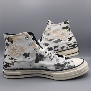 Converse Chuck 70 Hi Top Blocked Camo Carbon Grey